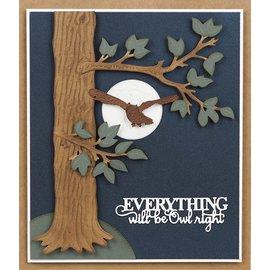 CREATIVE EXPRESSIONS und COUTURE CREATIONS Snijmallen / Snijsjablonen,  Moonlit Owl,  CED23031