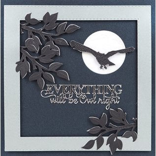 CREATIVE EXPRESSIONS und COUTURE CREATIONS Snijmallen / Snijsjablonen, Creative Expressions,  Moonlit Owl,  CED23031