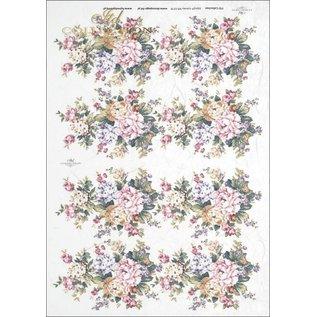 DECOUPAGE AND ACCESSOIRES 1x decoupage, rijstpapier, A4, vintage, nostalgie en kant. Keuze uit 9 verschillende motieven!