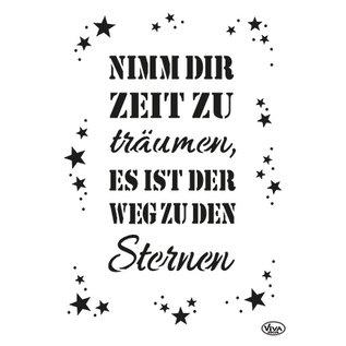 Modellieren A3, Kunstschablone,  mit deutschem Text
