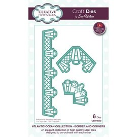 CREATIVE EXPRESSIONS und COUTURE CREATIONS Matrices de découpe, Border with Corner