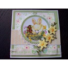 Marianne Design Hoja de fotos A4 conejitos dulces -