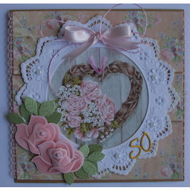 Marianne Design Crafts with paper: A4 sheet with pictures, bouquets