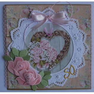 Marianne Design A4 sheet with pictures, bouquets