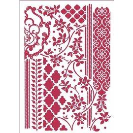 Modellieren Art stencil Stamperia A4 Mixed Tapestries, voor modellering, reliëf, etc.
