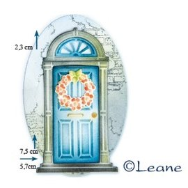 Joy!Crafts / Jeanine´s Art, Hobby Solutions Dies /  Ponsen sjabloon: deur met kroon