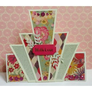 Crafter's Companion Designer block, painted blooms