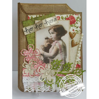 Vintage, Nostalgia und Shabby Shic A4 knipvel - Romantic Picture