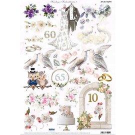 Bilder, 3D Bilder und ausgestanzte Teile usw... A4, die cut sheet, valentine and wedding