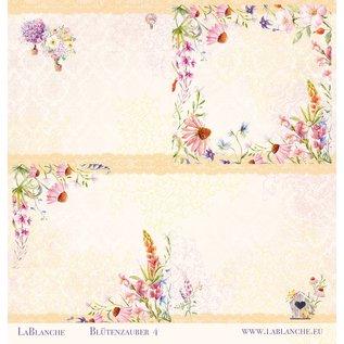 "LaBlanche Designer paper, ""Blütenzauber"", 30.5 x 30.5 cm, printed on both sides."