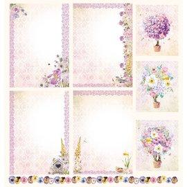 """LaBlanche Papel de diseño, """"Blütenzauber"""", 30,5 x 30,5 cm, impreso en ambos lados."""