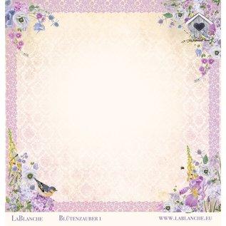 """LaBlanche Carta di design, """"Blütenzauber"""", 30,5 x 30,5 cm, stampata su entrambi i lati."""