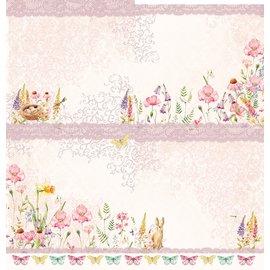 """LaBlanche Papier design, """"Blütenzauber"""", 30,5 x 30,5 cm, imprimé des deux côtés."""