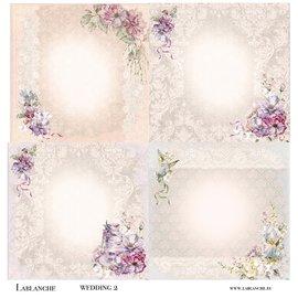 LaBlanche Carta di design, romanticismo, matrimonio, 30,5 x 30,5 cm, stampata su entrambi i lati.