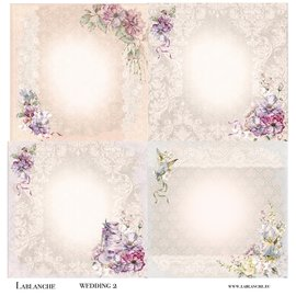 LaBlanche Designer paper, romance, wedding, 30.5 x 30.5 cm, printed on both sides.