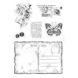 CREATIVE EXPRESSIONS und COUTURE CREATIONS Stempel, A5, nostalgische Postkarte
