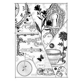 CREATIVE EXPRESSIONS und COUTURE CREATIONS Stamp, A5, nostalgic postcard