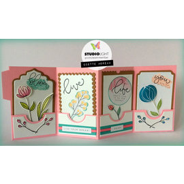 Studio Light Stamp, A6, flowers, Karin Joan Blooming Collection nr.03