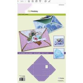 Dutch DooBaDoo Art template, for designing envelopes, 11 x 16 cm!