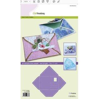 Dutch DooBaDoo Kunstsjabloon, voor het ontwerpen van enveloppen, 11 x 16 cm!