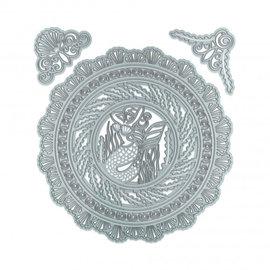 Snijmallen / Snijsjablonen, SET 2731E, Dimensions perfect pockets embellished swirl - Copy