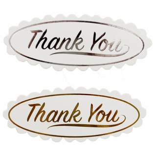 """Docrafts / Papermania / Urban 12 labels, with golden text """"Thank You"""""""