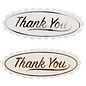 "Docrafts / Papermania / Urban 12 Labels, mit goldenen Text ""Thank  You"""