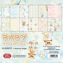Karten und Scrapbooking Papier, Papier blöcke Designerpapir, 15,5 x 15,5 cm, baby