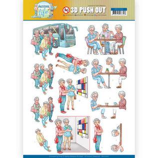 Bilder, 3D Bilder und ausgestanzte Teile usw... 1 Pushout / A4 Stanzbogen, Familie, Oma, Opa, Großeltern