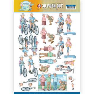 Bilder, 3D Bilder und ausgestanzte Teile usw... 1 feuille à découper pushout / A4, famille, grand-mère, grand-père, grands-parents
