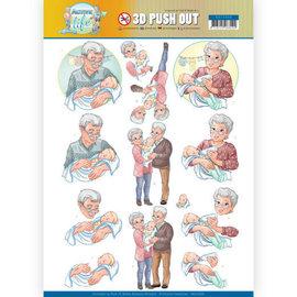 Bilder, 3D Bilder und ausgestanzte Teile usw... 1 feuille à découper / A4, famille, grands-parents,