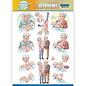 Bilder, 3D Bilder und ausgestanzte Teile usw... 1 Pushout / A4 Stanzbogen, Familie, Großeltern,