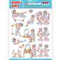 Yvonne Creations 1 pushout / A4 die cut sheet, family, grandparents