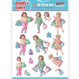 Bilder, 3D Bilder und ausgestanzte Teile usw... 1 feuille à découper pushout / A4, famille, grands-parents, filles pétillantes - shopping