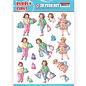 Bilder, 3D Bilder und ausgestanzte Teile usw... 1 Pushout / A4 Stanzbogen, Familie, Großeltern, Bubbly Girls - Shopping