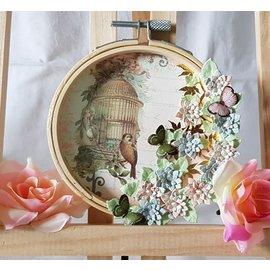 BASTELZUBEHÖR, WERKZEUG UND AUFBEWAHRUNG Embroidery frame, as decoration to design with various techniques