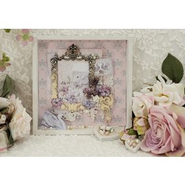 LaBlanche Papel de diseño, romance, boda, 30,5 x 30,5 cm, impreso en ambos lados.