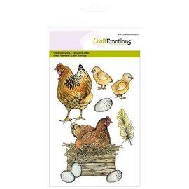 Craftemotions CraftEmotions, A5, frimærker, kyllinger og kyllinger