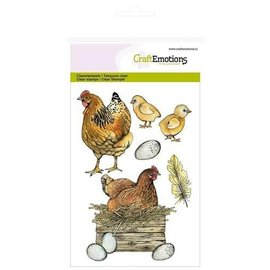 Craftemotions CraftEmotions, A5, stamps, chicks and chickens