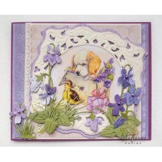 Marianne Design Bildeark, A4, kylling, kanin, hund og katt
