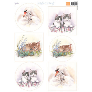 Marianne Design Feuille photo, A4, les plus beaux bébés animaux de Mattie