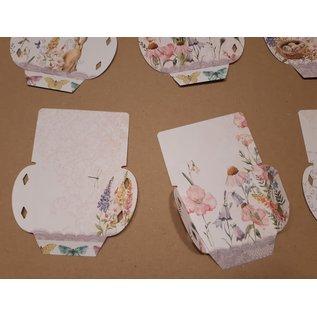 """LaBlanche Designpapier, """"Blütenzauber"""", 30,5 x 30,5 cm, aan beide zijden bedrukt."""