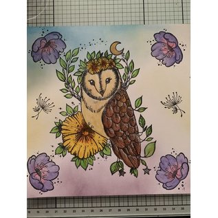 CREATIVE EXPRESSIONS und COUTURE CREATIONS Pink Ink Designs, Stamps, A5, Midsummer Owl, magisch mooi