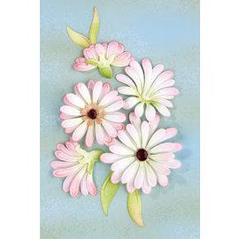 Leane Creatief - Lea'bilities und By Lene Stansing og preging sjablong, multi-blomsten 9 Chrysant