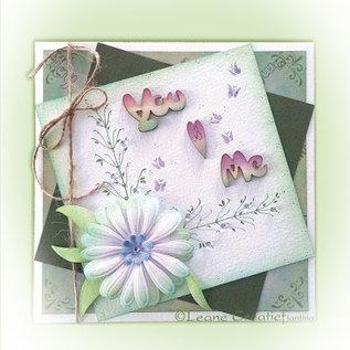 Leane Creatief - Lea'bilities und By Lene Stampen en Embossing stencil, de multi-bloem 9 Chrysant