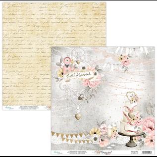 Designer Papier Scrapbooking: 30,5 x 30,5 cm Papier Mintay, Designer Papier, 250gr/m², 12 Bogen, doppelseitig bedruckt, Merry Me