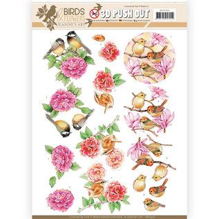 Joy!Crafts / Jeanine´s Art, Hobby Solutions Dies /  A4, 3D Stanzbogen, Blumen und Vögel