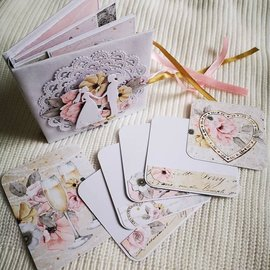 Designer Papier Scrapbooking: 30,5 x 30,5 cm Papier Mintay, designer paper, 250gr / m², 12 sheets, double-sided printing, Merry my