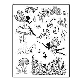 VIVA DEKOR (MY PAPERWORLD) Frimærke, 14 x 18 cm, Elvenverden, Gnomeverden