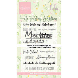 Marianne Design Stempel, 85 x 120 mm, 12 Motive, text: hallo frühling & Ostern in deutsch